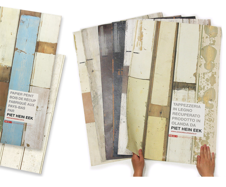 piet hein eek: scrapwood wallpaper