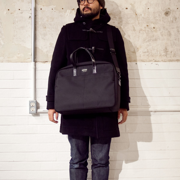 WONDER BAGGAGE ワンダーバゲージ GOODMANS BRIEFCASE グッドマンズ・ブリーフケース/BLACK - struct / blueover WONDER BAGGAGE hola Tiny Formed