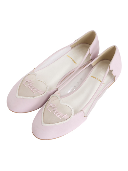 merry jenny Official WebStore - Merry Jenny official mail order site | RUNWAY channel WEB STORE | Runway channel Web Store | fashion mail order site - [vinyl] merry jenny chu heart flat shoes