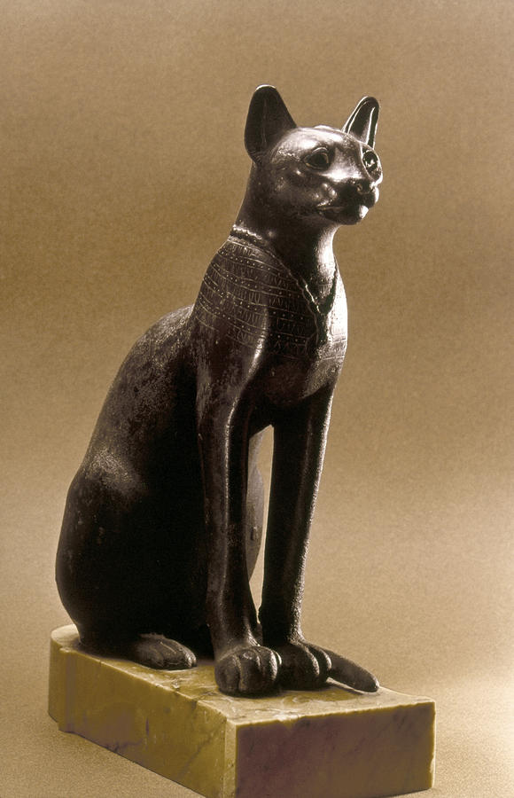 Egyptian Bronze Statuette Photograph by Granger - Egyptian Bronze Statuette Fine Art Prints and Posters for Sale