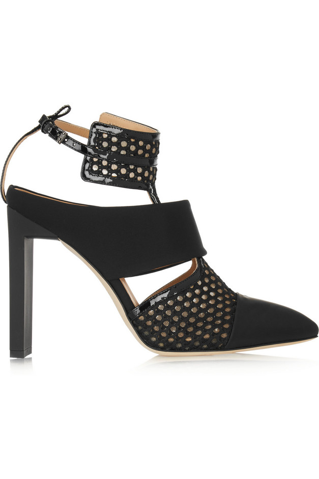 Reed Krakoff Mesh, rubber and patent-leather pumps NET-A-PORTER.COM