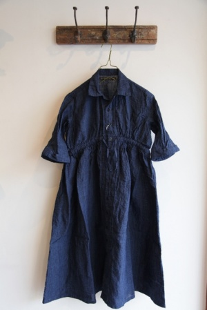 GARMENT REPRODUCTION OF WORKERS FARMERS DRESS EMMA -INDIGO CHECK- 取り扱い、通販 > LADY'S -t.m.p. coop web shop-