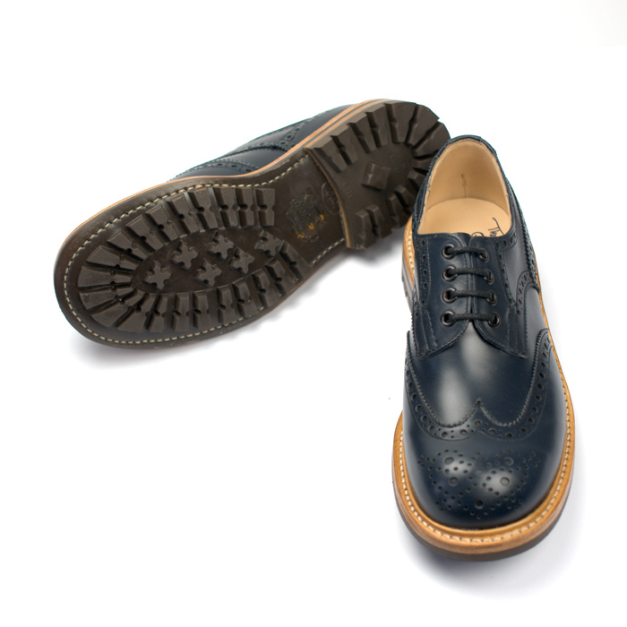 Quilp Shoes / M 7457 Derby Brogue Shoes / Navy - Store - nonsect radical