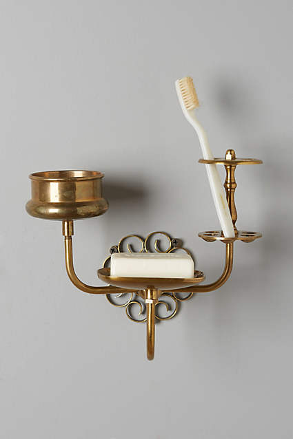 Brass Trinket Bath Caddy - anthropologie.com