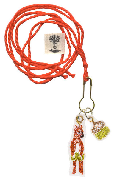 Coral and Tusk - fox trouble doll and acorn necklace