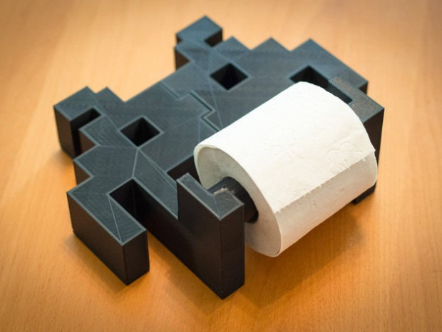 The Space Invaders Toilet Paper Roll Holder: Pew Pew Poo - Sigalon's HowToDoIt Soup