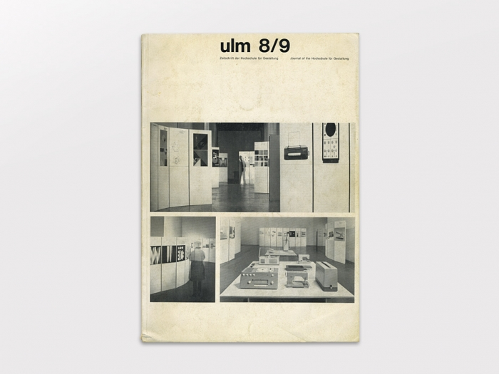 hochschule f r gestaltung ulm 8 9 journal of the ulm school for design sumally. Black Bedroom Furniture Sets. Home Design Ideas