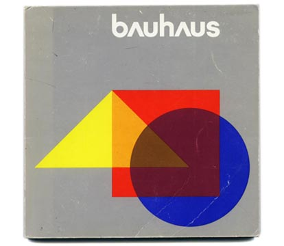 Bayer, Herbert [Designer]: BAUHAUS. Stuttgart: Institut fur Auslandsbeziehungen under the auspices of the Visual Arts Board, Australian Council for the Arts, 1975.
