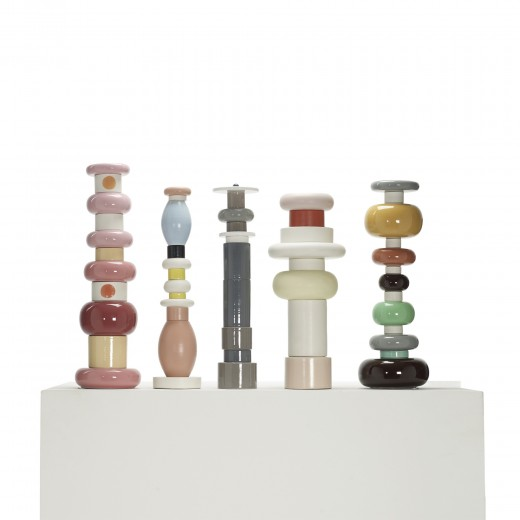 107: Ettore Sottsass / totems, set of five  < 	Living Contemporary, 15 September 2011 < Auctions | Wright