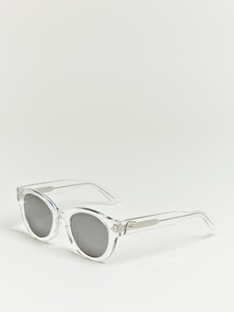 Facetasm Men's Clear Frame Metallic Sunglasses