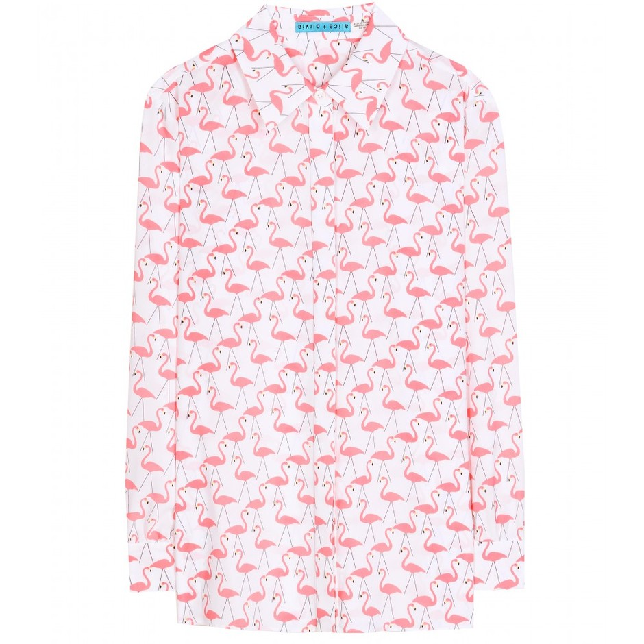 mytheresa.com - Willa flamingo-printed shirt - current week - new arrivals - Luxury Fashion for Women / Designer clothing, shoes, bags
