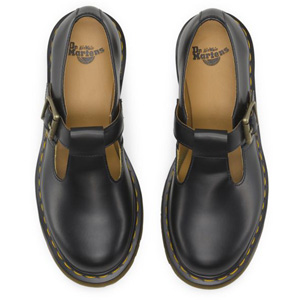 POLLEY T-BAR SHOE BLACK SMOOTH