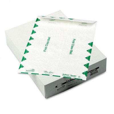 Amazon.com: DuPont White Leather Tyvek Envelopes - First Class, 9 x 12, White, 100/box(sold in packs of 2): Office Products