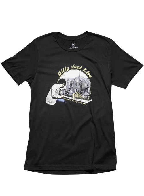 Billy Joel Official Online Store - NYC Photo 2018 MSG Dates Black Men;s SS Tee