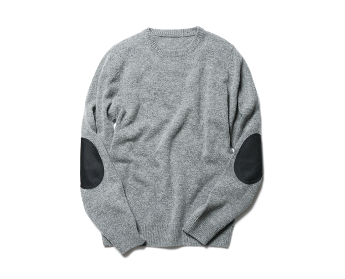 SOPHNET. | PRODUCT | ELBOW PATCH CREW NECK KNIT