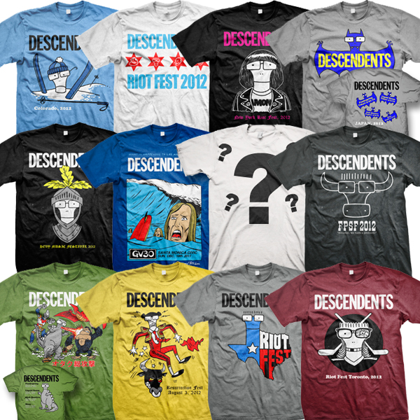 """""""I Wasn't Around"""" 2012 Shirt Bundle • The Official Descendents Online Store :: powered by Kings Road Merch"""