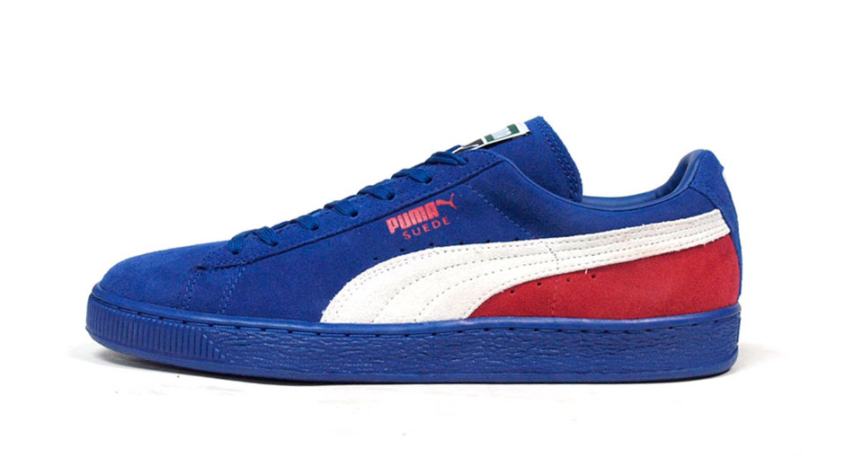 """SUEDE CLASSIC + BLOCKED """"LIMITED EDITION"""" BLU/WHT/RED プーマ Puma 