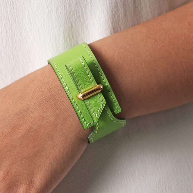 Fancy - Leather Wrap Cuff by Hermes Vintage