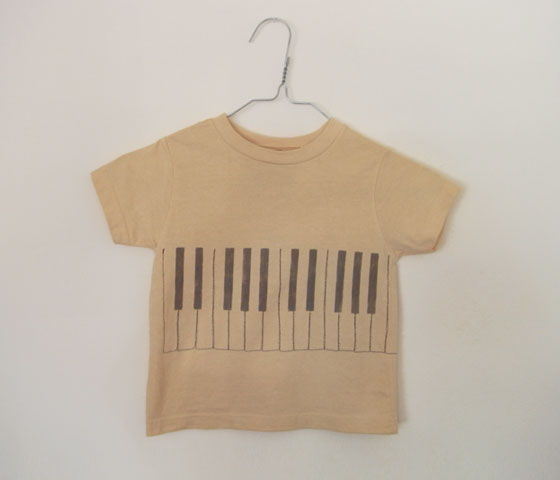 TOMOTAKE | Short Sleeve T-Shirts Piano - CHIGO | キッズセレクトショップ