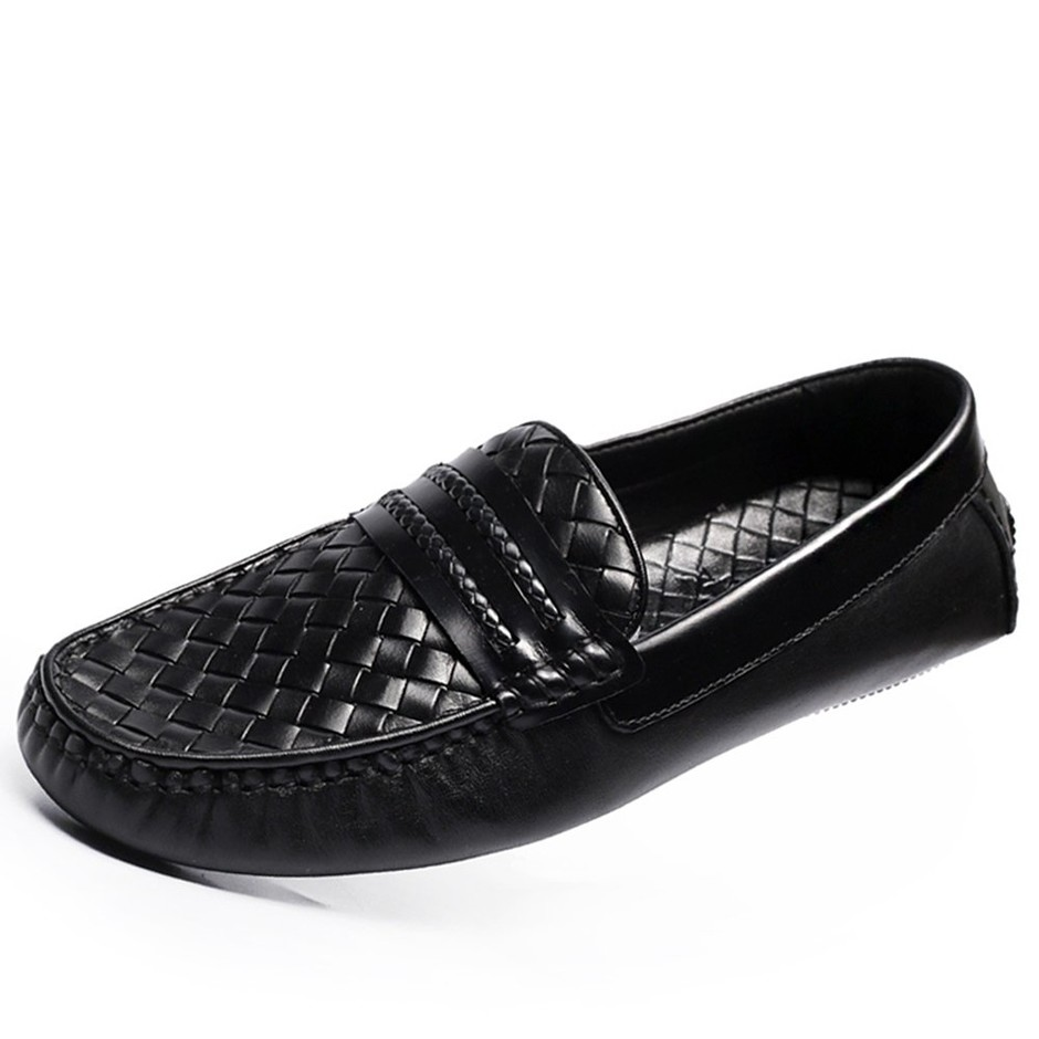 Amazon.com: CWMALLS Woven Leather Driving Loafers Moccasins Mens: Shoes