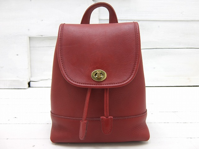 old coach オールドコーチ レザー ミニリュック 【レッド】 made in usa 古着通販サイト REPRESENT リプレゼント 北海道 旭川市 古着屋