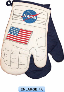 NASA Kitchen Oven Mitts - Novelty Oven Mitts: The Space Shop - Astro Mitt