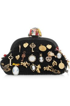Dolce & Gabbana Charm-embellished woven wool clutch - Dolce&... - Polyvore