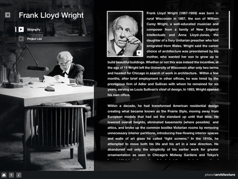 Frank Lloyd Wright – Fallingwater for iPad on the iTunes App Store