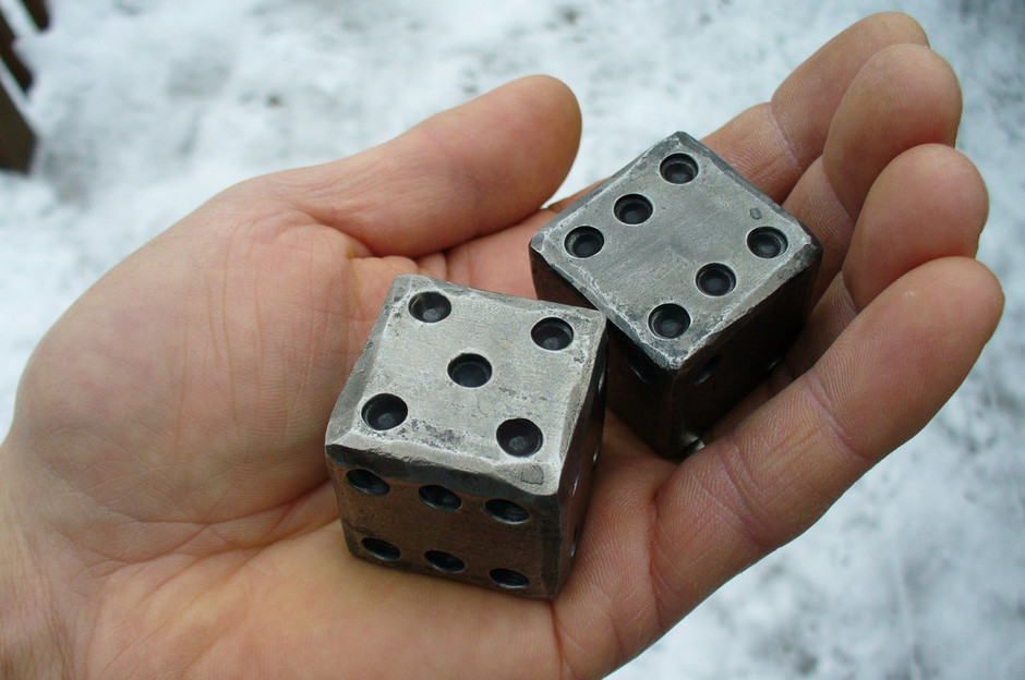 BLACKSMITH FORGED DICE 1 1/4 square by NazForge on Etsy