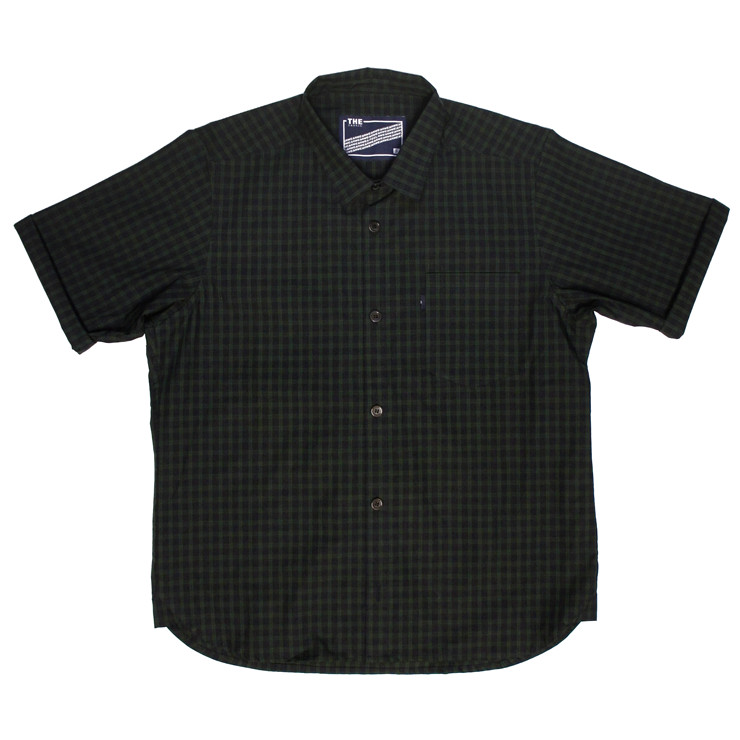 ROLL CHOP SHIRTS -S.BLACK WATCH- | THE FABRIC | ONEline store