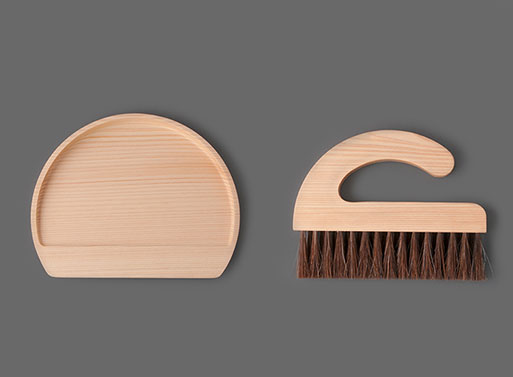 Asahineko Table Broom & Dust Pan — ACCESSORIES -- Better Living Through Design
