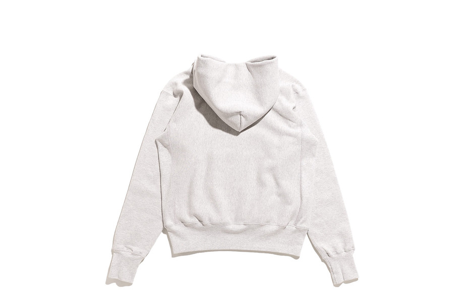 Reverse Weave Pull Over Sweat Parka Printed-OAT