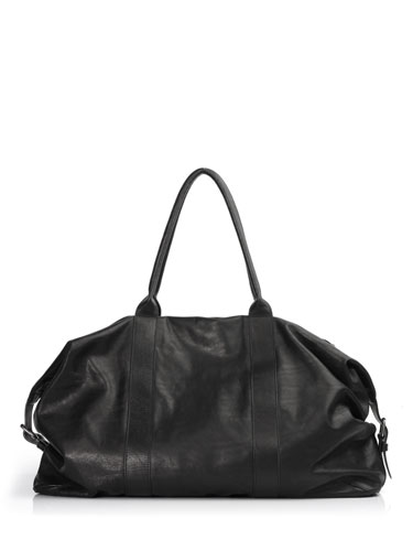 ANN DEMEULEMEESTER:Leather Boston bag [Why are you here?] アン・ドゥムルメステール 2WAY3WAY annm12a-2102-922010
