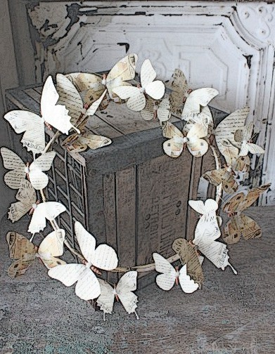 ,:*~*: wreaths :*~*:, / Tutorial on how to make a butterfly wreath.