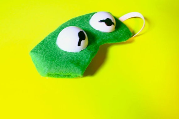 Frog Sleeping Mask by JacquieLongLegs on Etsy
