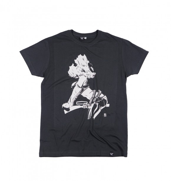 Gray streetwear tee-shirt - Giddy Up - COONTAK | To seize at GRAFITEE