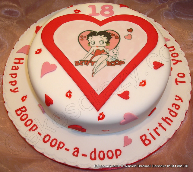 Betty Boop Printed Cake