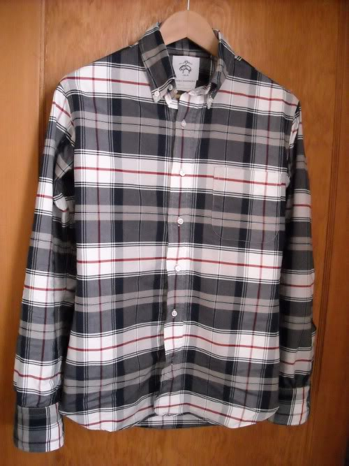 Brooks Brothers Black Fleece plaid shirt, BB0 (tailored to a slimmer fit)