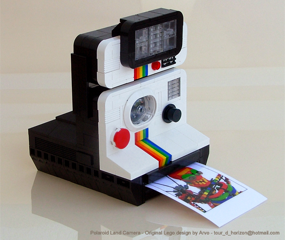 Beautiful Polaroid Camera Sculpted in Lego | Gadget Lab | Wired.com
