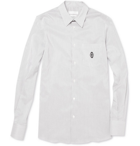 Alexander McQueen Striped Skull Emblem Shirt | MR PORTER