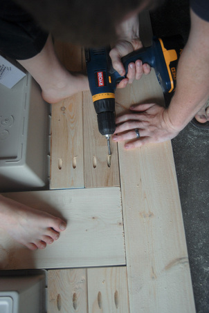 DIY Patio Table with Built-in Beer/Wine Coolers | Domesticated Engineer