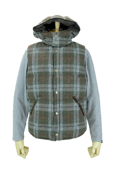 Check Nordic Down Vest-ドライボーンズ雲野住店-DRY BONES OFFICIAL WEB
