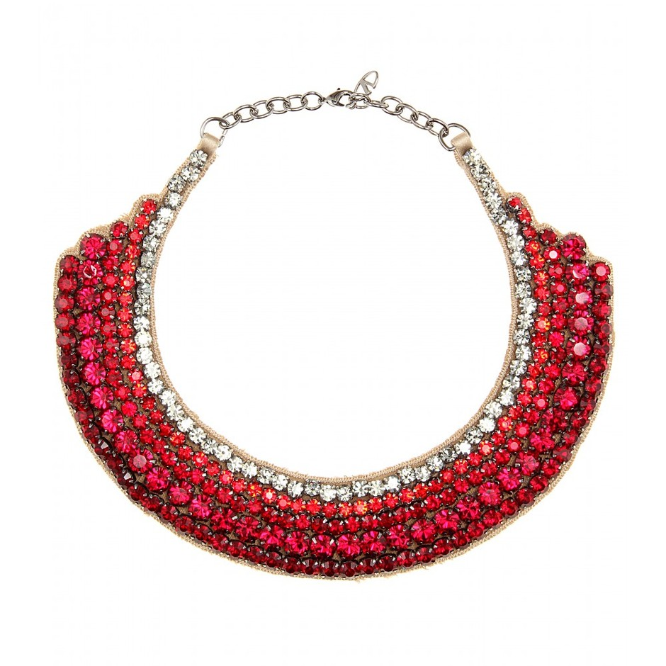 mytheresa.com - Crystal-embellished satin necklace - Necklaces - Jewellery - Accessories - Luxury Fashion for Women / Designer clothing, shoes, bags