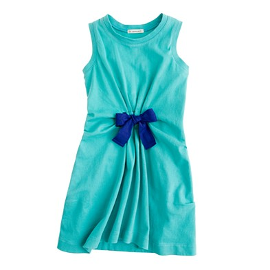 Girls' gathered bow dress - dresses, skirts & tunics - Girl's knits & tees - J.Crew