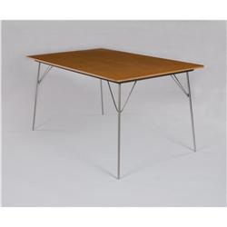 """Charles & Ray Eames - """"DTM-1"""" folding dining table"""