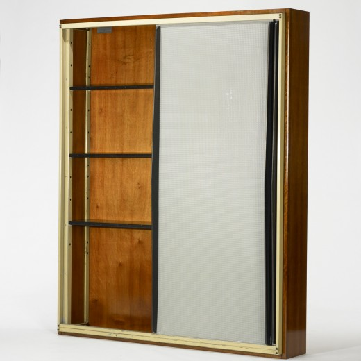 101: Charlotte Perriand and Jean Prouvé / wall-mounted cabinet from l'Unité d'Habitation Air France, Brazzaville  < 	Modern Design, 31 March 2011 < Auctions | Wright