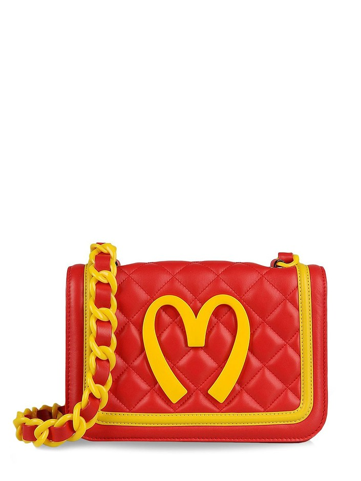 MOSCHINO SPECIAL EDITION FW14 - CAPSULE COLLECTION QUILTED LEATHER BAG - LUISAVIAROMA - LUXURY SHOPPING WORLDWIDE SHIPPING - FLORENCE