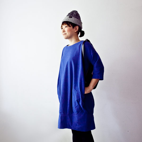 Ladies' / ordinary fits オーディナリーフィッツ Ball one piece ボールワンピース - struct / blueover WONDER BAGGAGE hola Tiny Formed