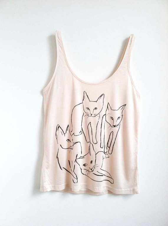 Picasso Cats Tank by leahgoren on Etsy