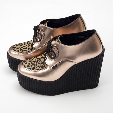 3939 Shop London | Unique product and art Underground Rose Gold Wedge Creepers